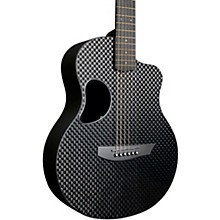 Carbon Touring Acoustic-Electric Guitar Basketweave Black Gloss Gold Hardware