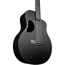Carbon Touring Acoustic-Electric Guitar Basketweave Black Gloss Satin Pearl Hardware