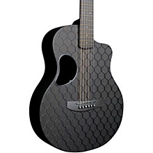 Carbon Touring Acoustic-Electric Guitar Honeycomb Black Gloss Gold Hardware