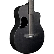 Carbon Touring Acoustic-Electric Guitar Standard Black Gloss Satin Pearl Hardware