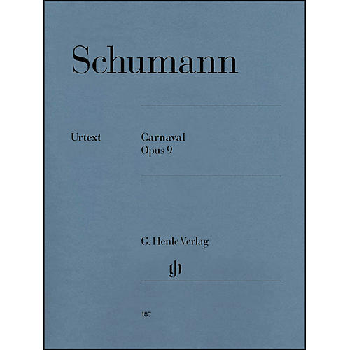 G. Henle Verlag Carnaval Opus 9 By Schumann