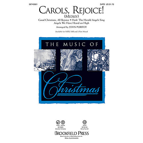 Brookfield Carols, Rejoice! (Medley) SATB arranged by John Purifoy