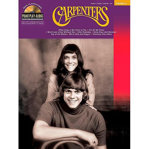 Hal Leonard Carpenters Piano Play-Along Volume 31 Book/CD arranged for piano, vocal, and guitar (P/V/G)