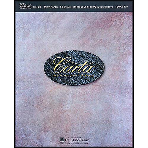 Hal Leonard Carta 29 Partpaper 10.5X13, Dbl Sided, 24 Sheet, 14 Stave Manuscript