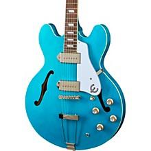 Casino Worn Hollow Body Electric Guitar Blue Denim