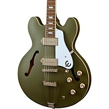 Casino Worn Hollow Body Electric Guitar Olive Drab