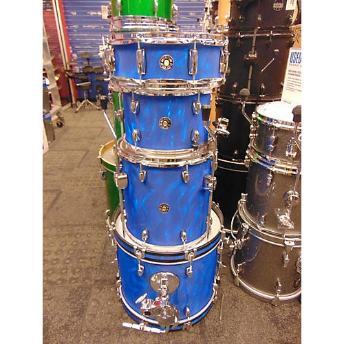 used gretsch drums catalina club jazz series drum kit satin blue flame guitar center. Black Bedroom Furniture Sets. Home Design Ideas