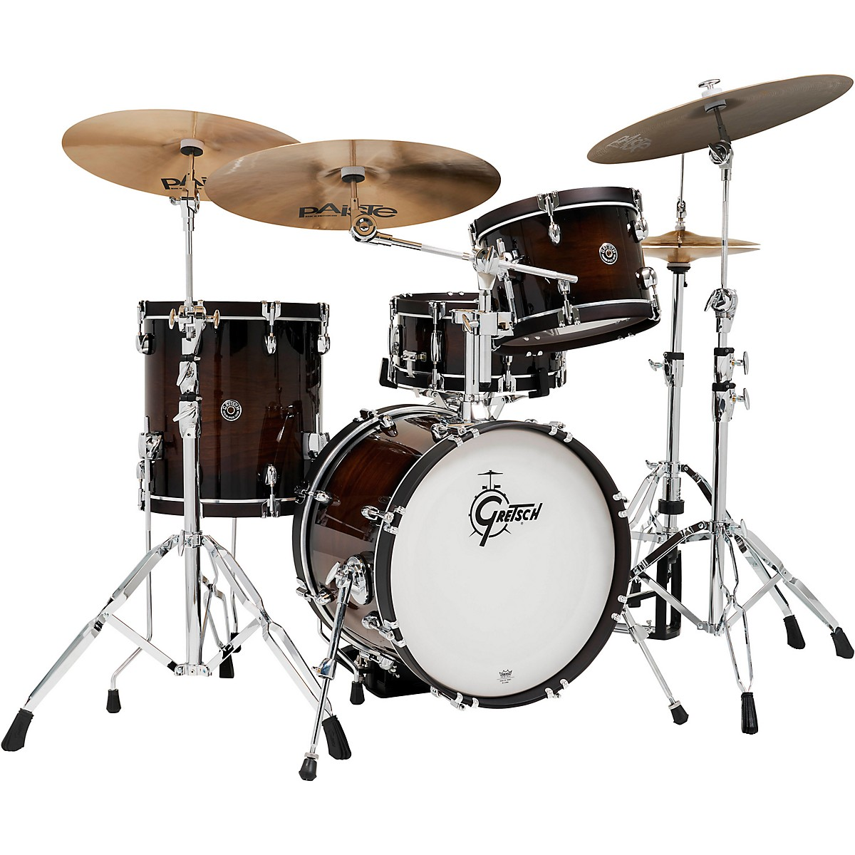 Gretsch Drums Catalina Special Edition Walnut/Maple 4-Piece Shell Pack with Wood Hoops and 18 in. Bass Drum