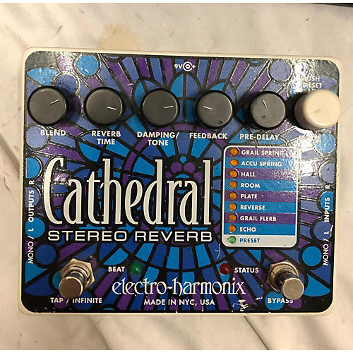Electro-Harmonix Cathedral Stereo Reverb Effect Pedal