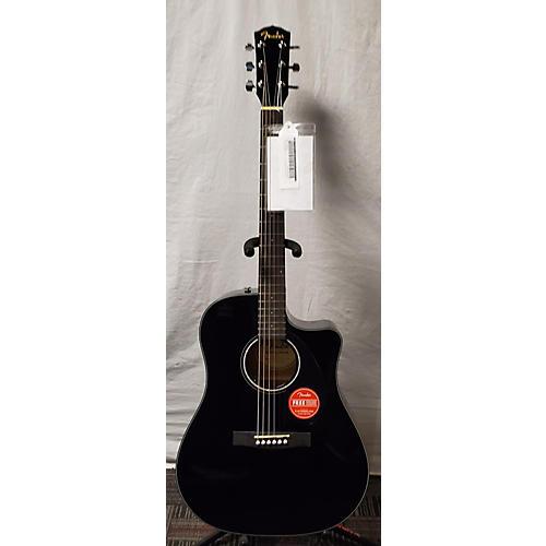 used fender cd60sce acoustic electric guitar black guitar center. Black Bedroom Furniture Sets. Home Design Ideas