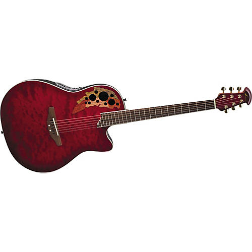 Ovation Celebrity Deluxe GC38-CCBQ Super-Shallow Acoustic-Electric Guitar