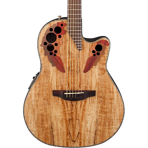 ovation celebrity elite plus acoustic electric guitar spalted maple natural guitar center. Black Bedroom Furniture Sets. Home Design Ideas