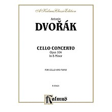 Alfred Cello Concerto Op. 104 for Cello By Antonin Dvor¡k Book
