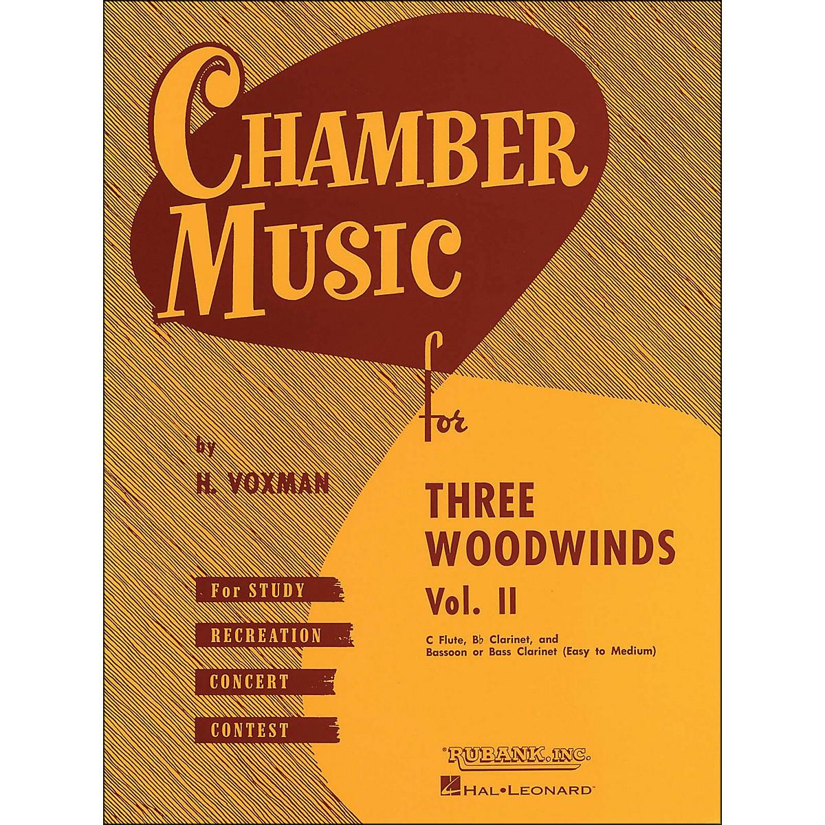 Hal Leonard Chamber Music for Three Woodwinds Vol. 2 Easy To Medium Flute/Clarinet/Bassoon/Or Bass Clarinet