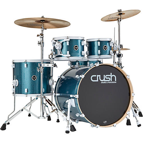 crush drums percussion chameleon complete 5 piece drum set light blue sparkle guitar center. Black Bedroom Furniture Sets. Home Design Ideas