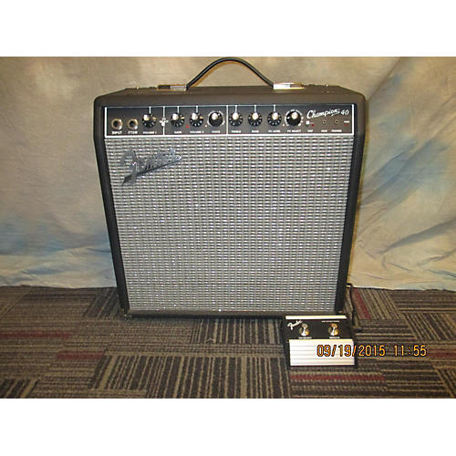 Fender Champion 40 Black And Silver Guitar Combo Amp