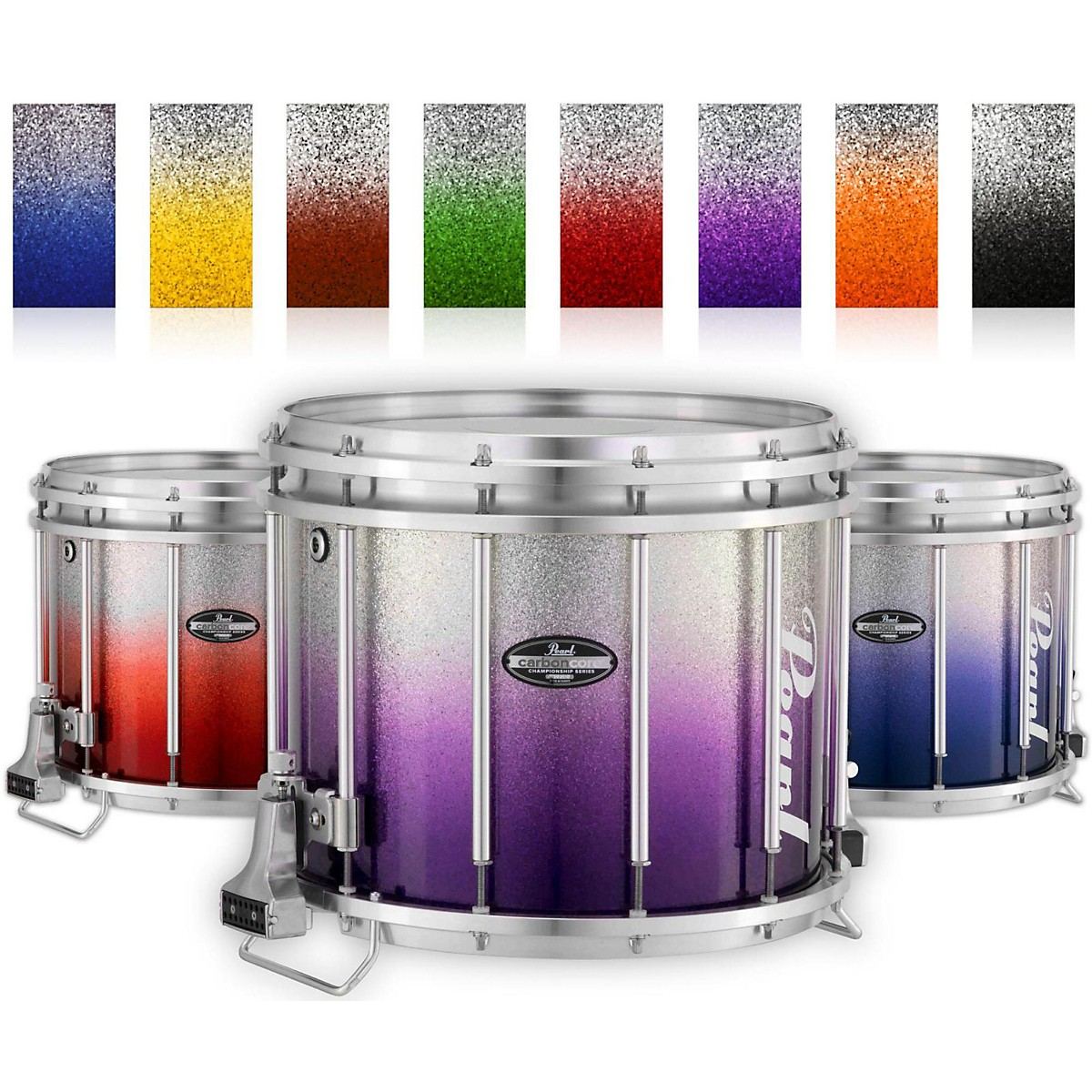 Pearl Championship CarbonCore Varsity FFX Marching Snare Drum Fade Bottom Finish