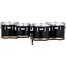 Pearl Championship Maple Marching Tenor Drums Quad Sonic Cut Level 1 10,12,13,14 Inch Midnight Black