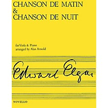 Novello Chanson de Matin and Chanson de Nuit (Viola & Piano) Music Sales America Series