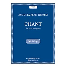 G. Schirmer Chant (Viola and Piano) String Series Softcover