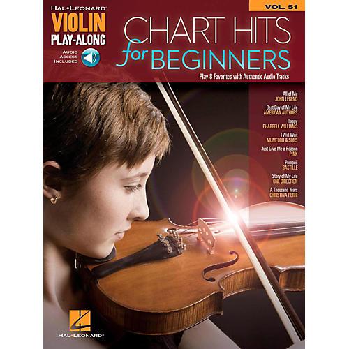 Hal Leonard Chart Hits For Beginners Violin Play-Along Volume 51 Book/Audio Online