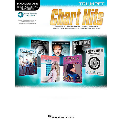 Hal Leonard Chart Hits For Trumpet - Instrumental Play-Along (Book/Online Audio)