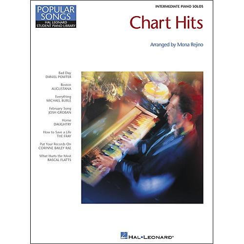 Hal Leonard Chart Hits Intermediate Piano Solos Popular Songs Hal Leonard Student Piano Library by Mona Rejino