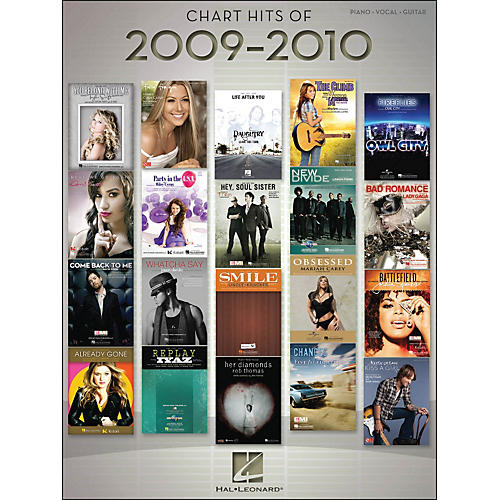 Hal Leonard Chart Hits Of 2009-2010 arranged for piano, vocal, and guitar (P/V/G)