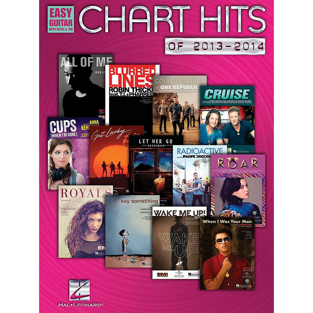 Hal Leonard Chart Hits Of 2013-2014 Easy Guitar With Tab