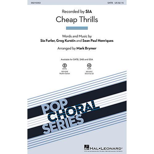 Hal Leonard Cheap Thrills SATB by Sia arranged by Mark Brymer