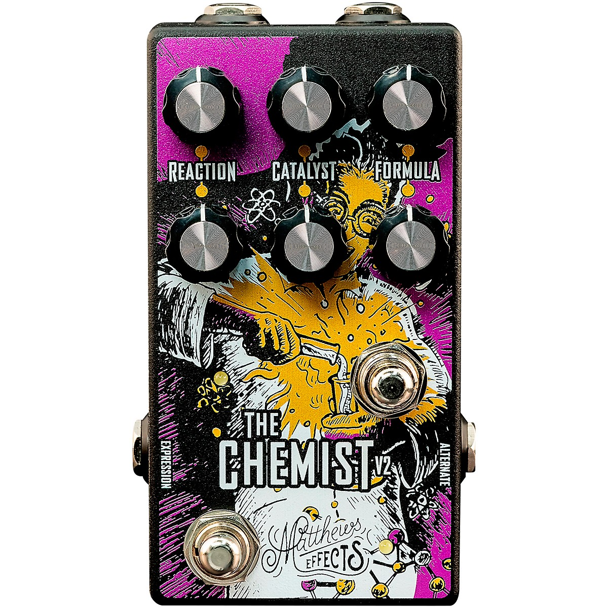 Matthews Effects Chemist V2 Octave, Chorus, Phaser Effects Pedal
