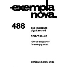 Sikorski Chiaroscuro (String Quartet) Ensemble Series Softcover Composed by Giya Kancheli (Kantscheli)