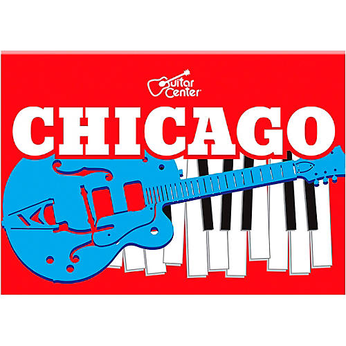 Guitar Center Chicago Guitar and Keyboard Graphic Magnet
