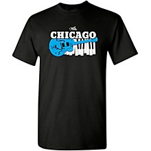 Guitar Center Chicago Guitar and Keyboard Graphic T-Shirt