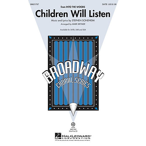 Hal Leonard Children Will Listen (from Into the Woods) SATB arranged by Mark Brymer