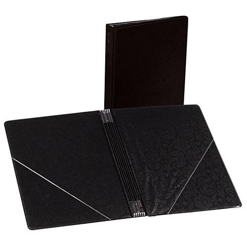 Marlo Plastics Choral Folder 7-3/4 x 11 With 7 Elastic Stays and 2 Clear, Flat, Diagonal Internal Pockets