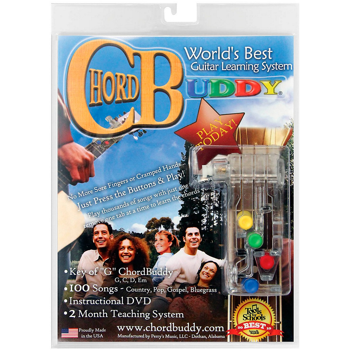 Perri's ChordBuddy - Guitar Learning System includes ChordBuddy, Method Book, DVD and Songbook
