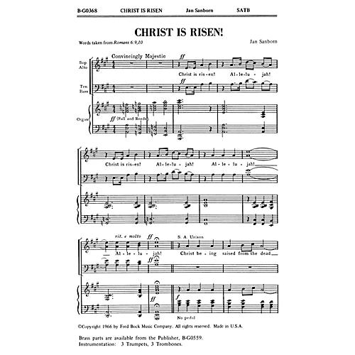 Fred Bock Music Christ Is Risen! 2-Part any combination Composed by Jan Sanborn