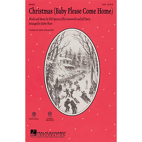 Hal Leonard Christmas (Baby Please Come Home) ShowTrax CD Arranged by Kirby Shaw