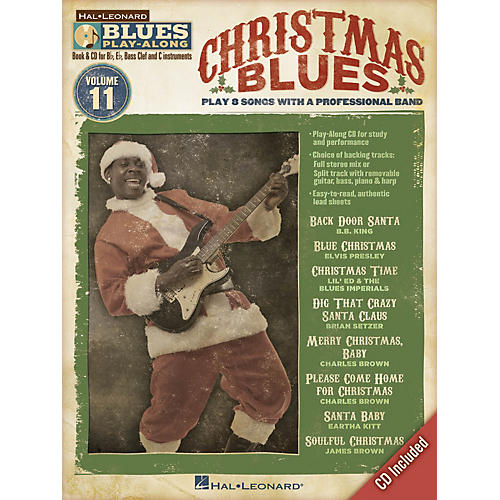 Hal Leonard Christmas Blues (Blues Play-Along Volume 11) Blues Play-Along Series Softcover with CD