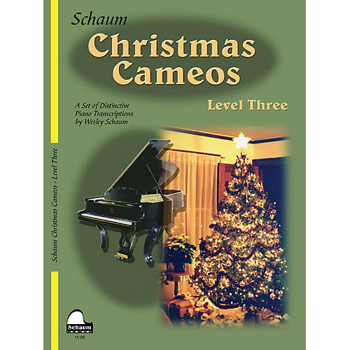 SCHAUM Christmas Cameos (Level 3 Early Inter Level) Educational Piano Book