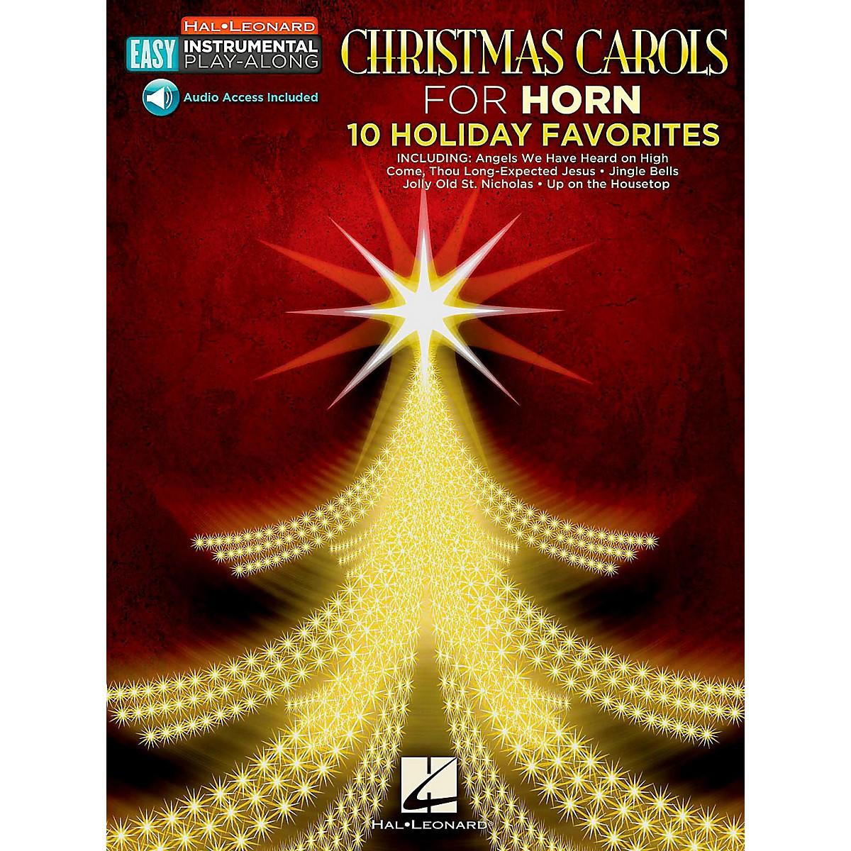 Hal Leonard Christmas Carols - Horn - Easy Instrumental Play-Along (Audio Online)