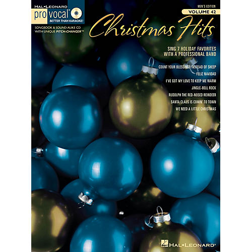 Hal Leonard Christmas Hits (Pro Vocal Men's Edition Volume 42) Pro Vocal Series Softcover with CD Composed by Various
