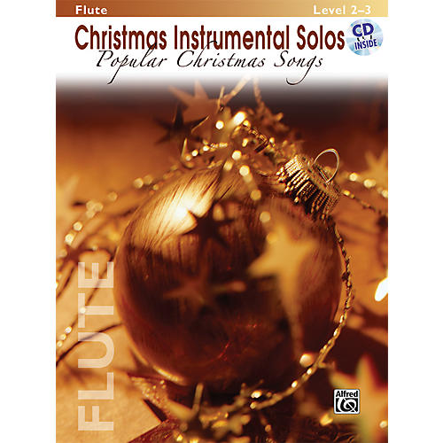 Alfred Christmas Instrumental Solos Popular Christmas Songs Flute Book & CD