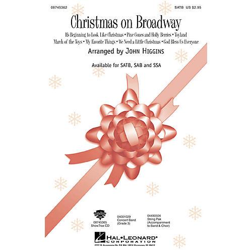 Hal Leonard Christmas On Broadway (Medley) SAB Arranged by John Higgins