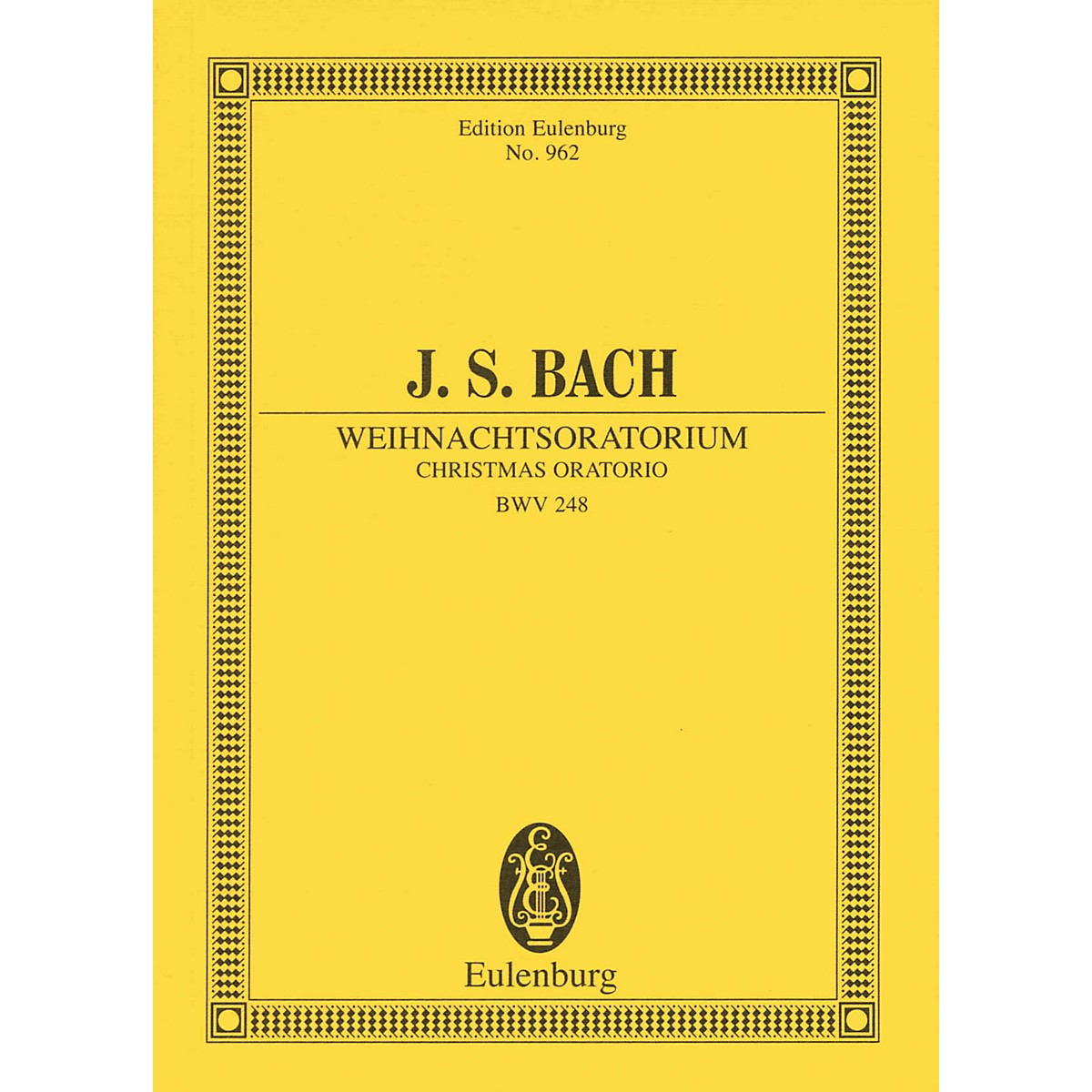 Eulenburg Christmas Oratorio, BWV 248 Study Score Composed by Johann Sebastian Bach Arranged by Arnold Schering