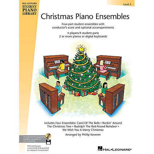 Hal Leonard Christmas Piano Ensembles - Level 3 Book Piano Library Series (Level Late Elem)