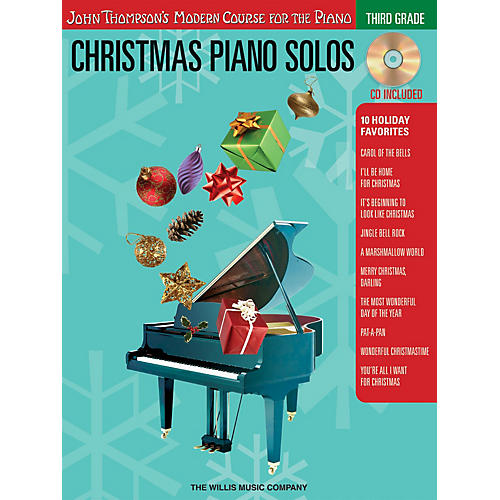 Willis Music Christmas Piano Solos - Third Grade (Book/CD Pack) Willis Series Softcover with CD Composed by Various