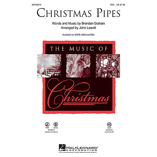 Hal Leonard Christmas Pipes SSA arranged by John Leavitt