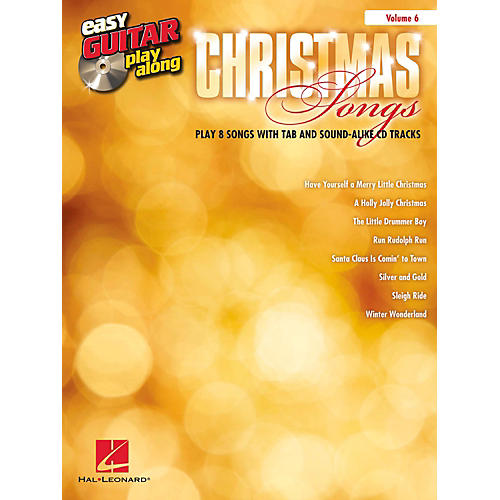 hal leonard christmas songs easy guitar play along volume 6 book cd guitar center. Black Bedroom Furniture Sets. Home Design Ideas